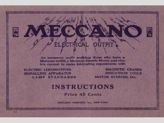 1920 Electrical Outfit